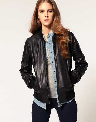 ASOS Soft Leather Bomber Jacket