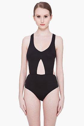 ALEXANDER WANG Black Track Swimsuit