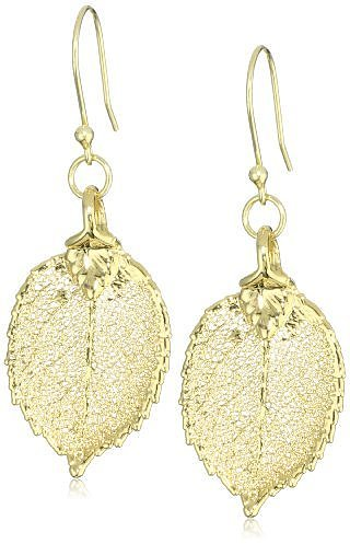 "Karen London ""Liv"" Gold Leaf Earrings"