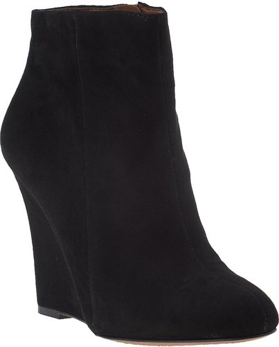 SAM EDELMAN Wilma Wedge Boot Black Suede