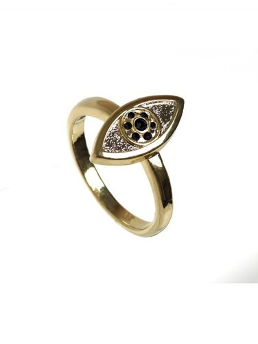 Vertical Evil Eye Stackable Ring