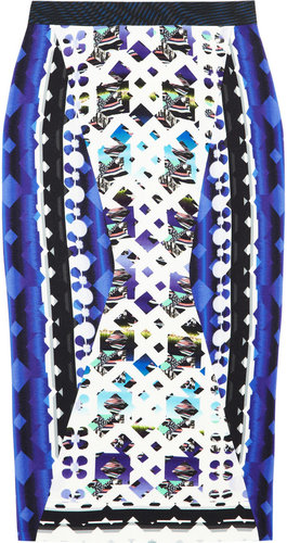 Peter Pilotto H printed stretch-crepe skirt