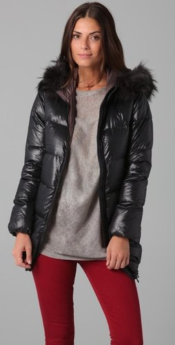 Duvetica Kappa Coat with Fur Trim