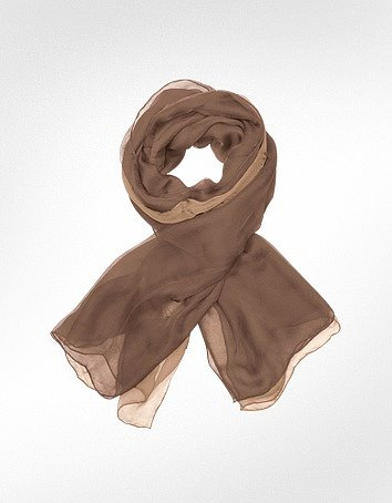 Enrico Coveri Ruffled Silk Stole