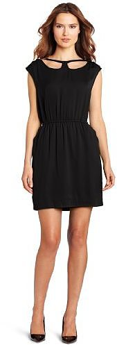 BCBGeneration Women's Collar Cutout Dress