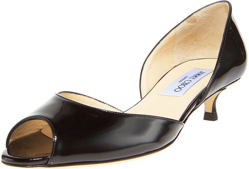 Jimmy Choo Patent Open-Toe d'Orsay
