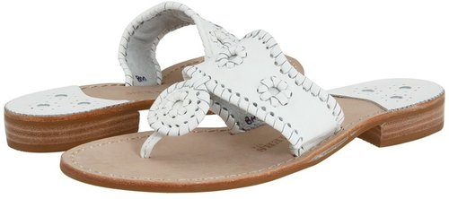 Jack Rogers - Palm Beach Navajo Flat (White) - Footwear