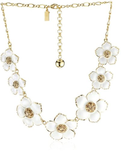 Kate Spade New York Enamel Garden Flower Necklace