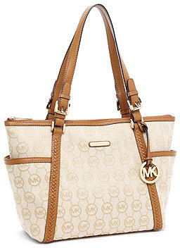 MICHAEL Michael Kors Whipped Large  Zip-Top Tote, Beige/Camel