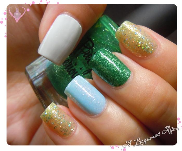 St. Patrick's Day nail art bases