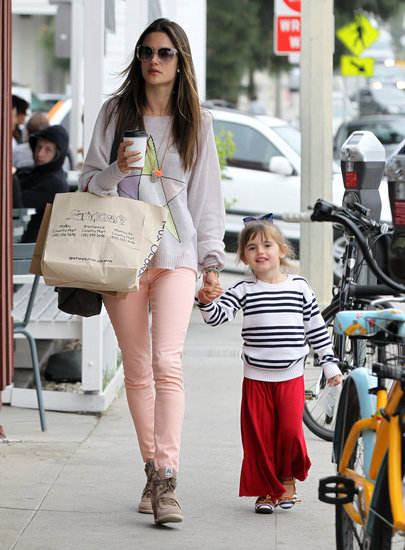 Alessandra Ambrosio ran errands in Brentwood with Anja.