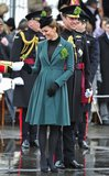 Kate Middleton and Prince William attended a St. Patrick's Day parade in Aldershot this year.