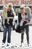 Jessica Simpson and Ashlee Simpson took their kids to Toys R Us.