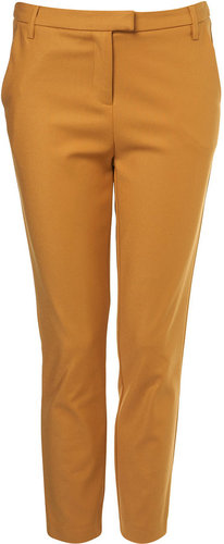 Mustard Ankle Grazer Trousers