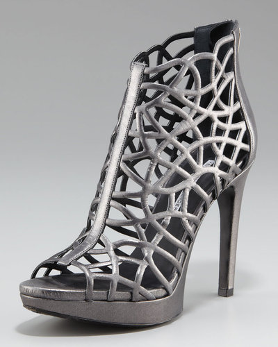 Vera Wang Lavender Leather Cage Sandal