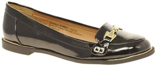 River Island Patent Buckle Loafers