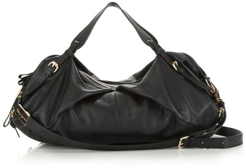 Bridle Duffle In Soft Leather In Black