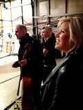Smash star Megan Hilty shared a backstage photo from the set of The View. Source: Twitter user meganhilty
