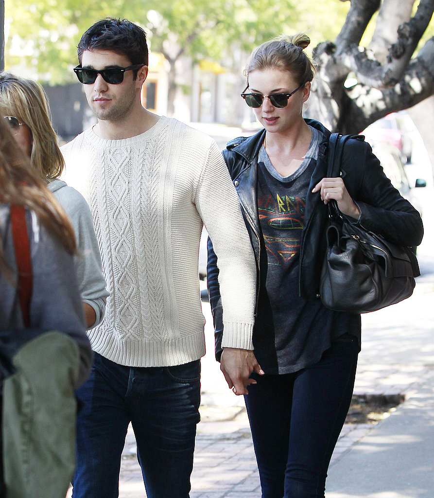 Emily VanCamp and Josh Bowman held hands on a lunch date.