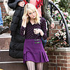 Emma Stone Wears Fishnets on the Spider-Man 2 Set