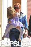 Isla Fisher carried Elula Cohen in LA.