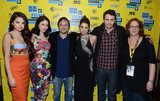 Selena Gomez, Rachel Korine, Harmony Korine, Ashley Benson, James Franco, and producer Janet Pierson premiered Spring Breakers at SXSW.