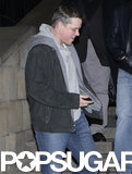 Matt Damon layered up while out in Berlin.