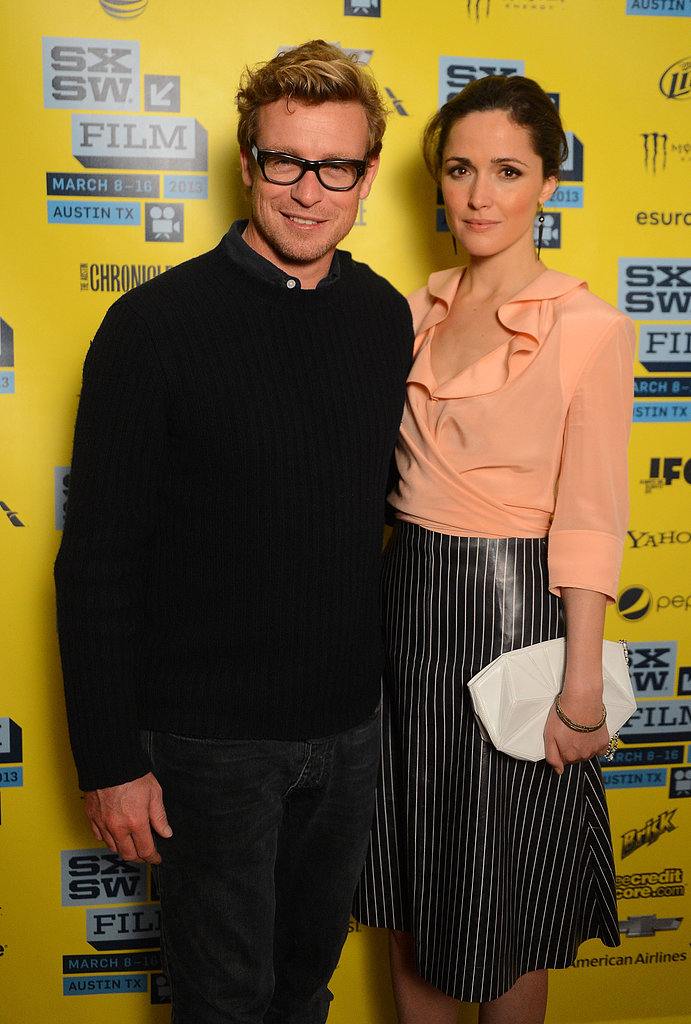 Rose Byrne linked up with Simon Baker for the I Give It a Year screening at SXSW.