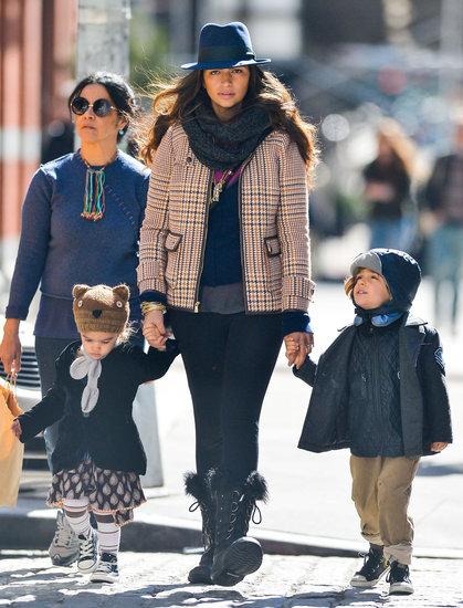 Camila Alves held hands with Levi and Vida for a walk around NYC.