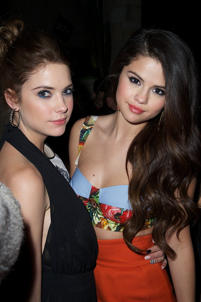 Ashley Benson and Selena Gomez chatted during the afterparty.