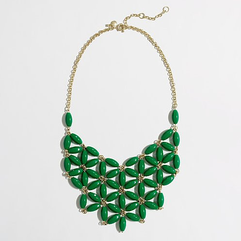 Complete your party style with this floral bib necklace by J.Crew ($50, originally $60).