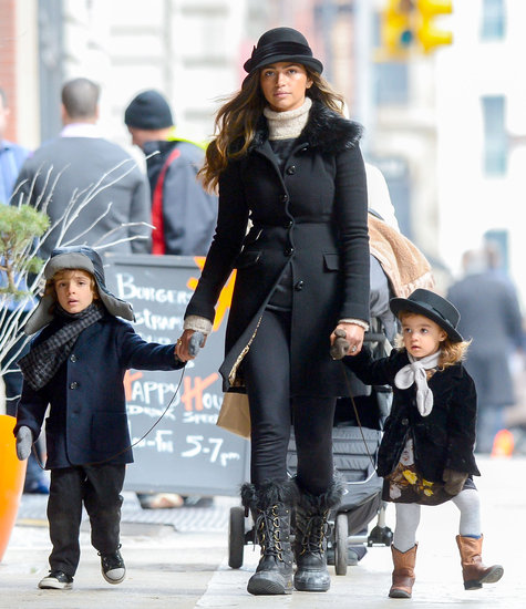 Camila Alves took her kids Levi and Vida out for an early evening stroll in NYC on Sunday.