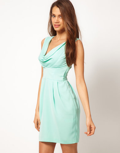 ASOS Tulip Dress With Cowl Front