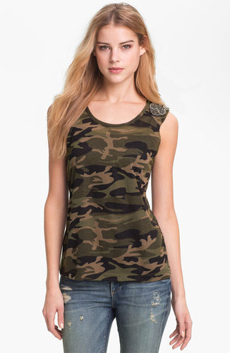 KUT from the Kloth &#039;Luna&#039; Camo Top