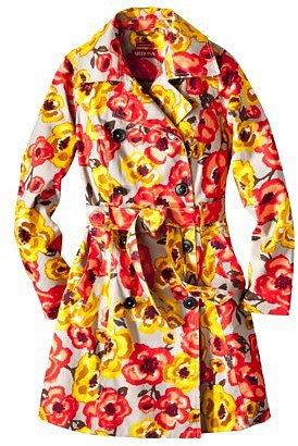 Merona® Water Repellent Classic Trench Coat - Multicolor Floral Print
