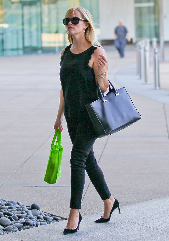 Reese Witherspoon was dressed in all black for a meeting in LA.