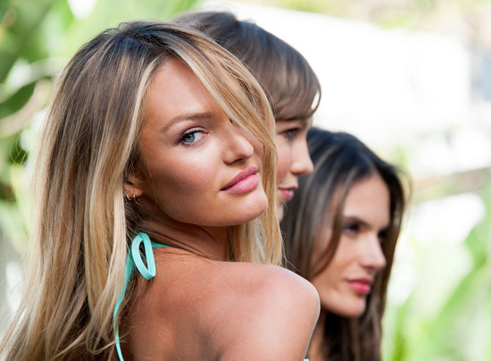 Candice Swanepoel worked her stuff for the camera.