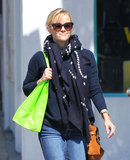 Reese Witherspoon picked up some juice at Glow Bio.