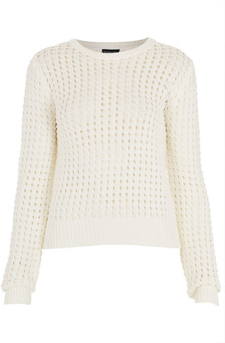 Knitted Grid Stitch Jumper