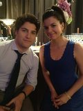 Casey Wilson and Adam Pally posed for a picture while filming the season finale of Happy Endings. Source: Twitter user caseyrosewilsom