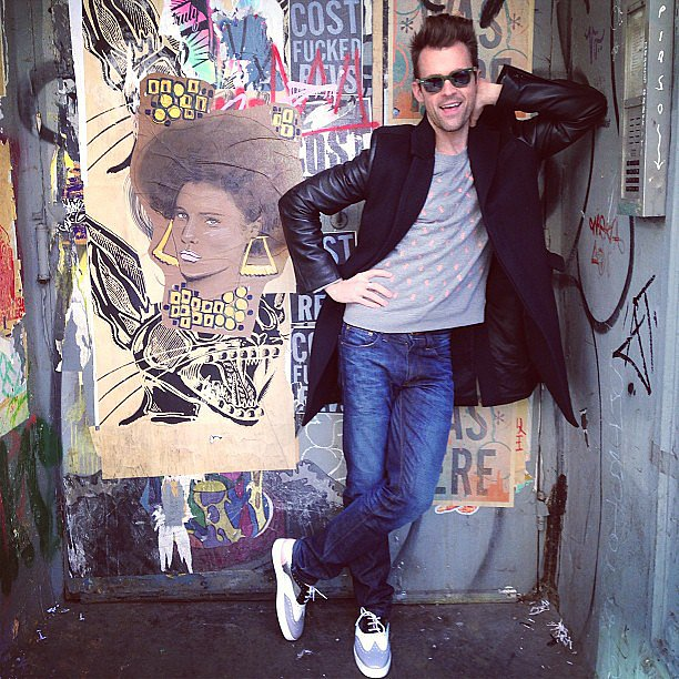 Brad Goreski posed in front of street art in the city. Source: Instagram user mrbradgoreski