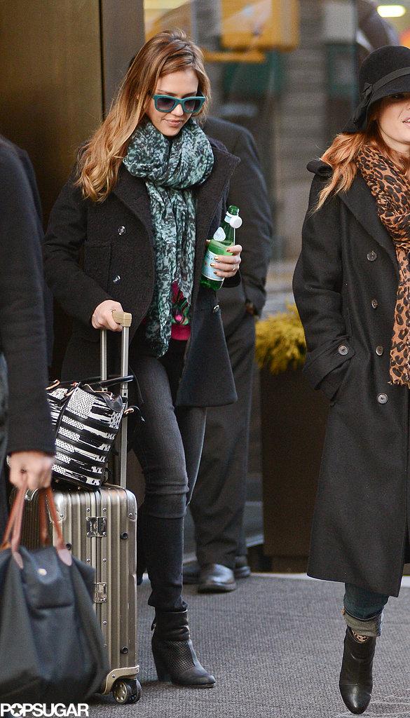 Jessica Alba left NYC today.