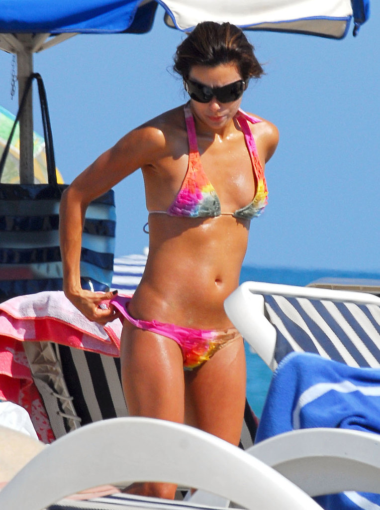 Eva Longoria hit the beach in Spain in September 2007.
