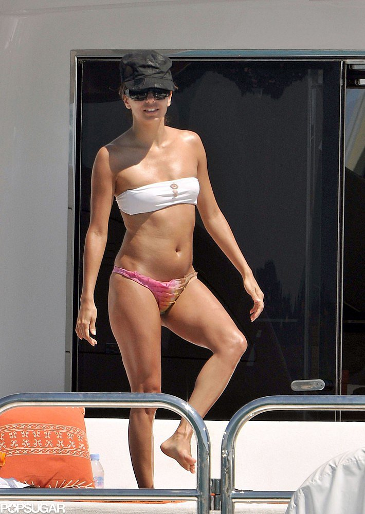 Eva Longoria soaked up the sun in Saint-Tropez during a June 2009 vacation.