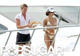 Bikini-clad Eva Longoria hit the deck of a yacht in July 2007 in Saint-Tropez.