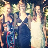 Candice Swanepoel, Karlie Kloss, and Alessandra Ambrosio sported sexy cocktail dresses to celebrate the launch of Victoria's Secret's Swim collection. Source: Instagram user alecambrosio