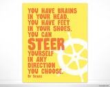 It doesn't get any more encouraging than a well-known Dr. Seuss quote poster ($14).