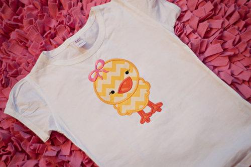 2 Hip Chix Designs Easter Chick Shirt