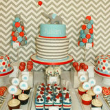 Elephant and Balloon First Birthday Party Ideas