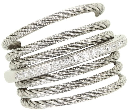 Charriol - Ring-Classique 02-32-S706-11 (Stainless Steel Cable/White Gold) - Jewelry